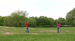 Couple play ball Stock Footage