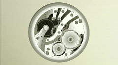 Gears running. Animated illustration HD 1080 Stock Footage