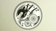 Gears running. Animated illustration HD 1080 Stock Footage