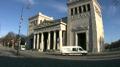 Stock Video Footage of Germany Munich Königsplatz Propyläen museum
