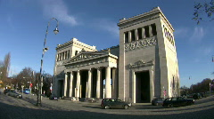 Germany Munich Königsplatz Propyläen museum Stock Footage