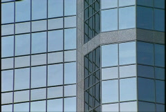 Architecture, gray office tower, angles Stock Footage
