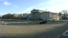 Germany Munich Glyptothek museum at Königsplatz - stock footage