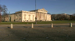 Germany Munich Königsplatz Glyptothek museum - stock footage