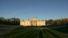 Germany Munich Königsplatz Glyptothek museum Stock Footage