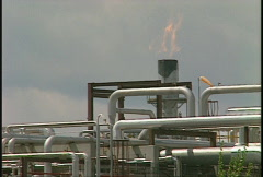 Oil & gas, gas plant flare, #3 Stock Footage