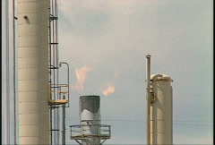 Oil & gas, gas plant stack and flare, #3 Stock Footage