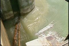 Dam Ghost, #29 spillway sluice gate Stock Footage