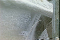 Dam Ghost, #32 spillway, very tight profile on spillway, skijump water Stock Footage