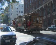 San Francisco tram passes - stock footage