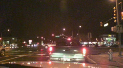 Dysfunctional heavy intersection traffic light signals  Stock Footage