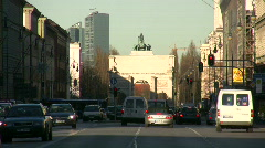 Germany Munich Traffic Leopoldstrasse street Stock Footage