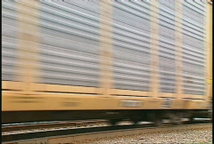 Railroad, Freight train auto carriers Stock Footage