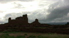 Ruins and Storm Clouds Timelapse - stock footage