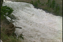 Bow Falls, Banff, #20 above pan down Stock Footage