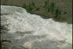 Bow Falls, Banff, #21 above, rainbow Stock Footage