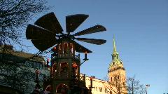 Germany Munich Advent Christmas fair Christkindlmarkt Stock Footage