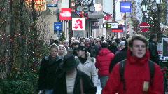 Germany Munich Advent Christmas fair Sendlingerstrasse Stock Footage