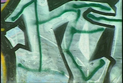 Graffiti, intentional hand-held Stock Footage