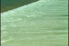 Weir and runoff on river, #2 Stock Footage