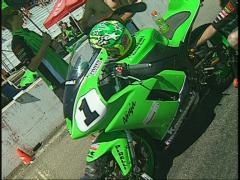 Motorsports, race superbike dutch tilt Stock Footage