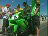 Stock Video Footage of motorsports, Jordan Szokie super bike rider, celebrity