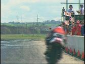 Stock Video Footage of motorsports, V-twin superbike race front straight