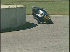 Motorsports,  V-twin Superbike out of carousel, #1 Stock Footage
