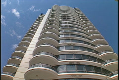 condo tower zooms - stock footage