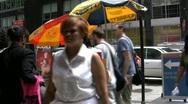 Manhattan New York Lunch Stand Stock Footage