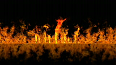 dancing girls on fire 01 noshake 30s Q90 - stock footage