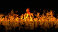 Dancing girls on fire 01 noshake 30s Q90 Stock Footage