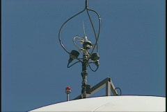 single wind turbine, #8 anemometer - stock footage