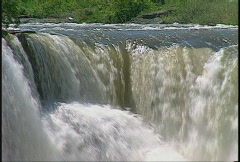 River and waterfall, Lundbreck waterfalls, #27 top level Stock Footage