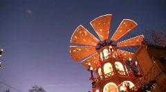 Germany Munich Advent Christmas fair rindermarkt Stock Footage