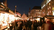 Stock Video Footage of Germany Munich Advent Christmas fair Christkindlmarkt