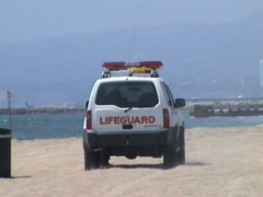 Lifeguard (slow motion) Stock Footage
