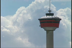 Calgary tower, #4 and clouds Stock Footage