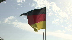 German Flag Stock Footage