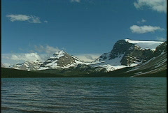 Bow lake and mountain, #1 Stock Footage