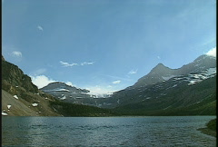Bow lake and mountain, #2 Stock Footage