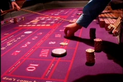 Craps Gaming Table Wheel Las Vegas Atlantic City Gambling Casino Stock Footage