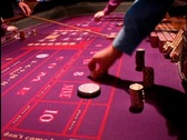 Stock Video Footage of Craps Gaming Table Wheel Las Vegas Atlantic City Gambling Casino