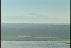 Aerial, Mt Baker Stock Footage