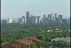 Calgary skyline, from Nose Hill 14th St. Stock Footage