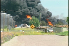 Fire, hub oil fire, huge plumes of black smoke, #20 Stock Footage