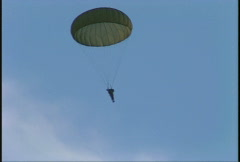 Military, parachute soldier, #5 follow shot Stock Footage