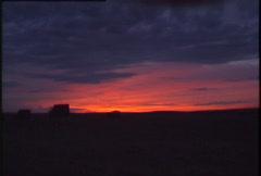 Amazing sunrise red purple Stock Footage