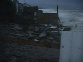 Stock Video Footage of Coastal erosion in wild storm seas