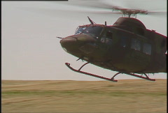 Military helicopters landing, air assault Stock Footage